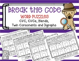 Break the Code Word Puzzles to Practice Blending Phonemes to Read Words