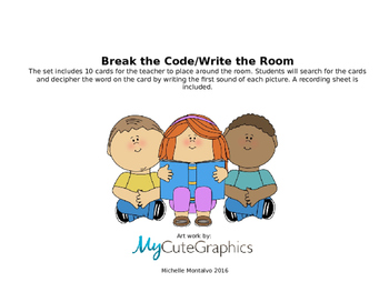 Break the Code Write the Room