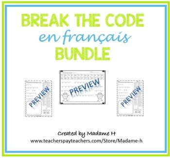 Break the Code en Français Bundle