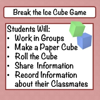 Break the Ice CUBE Game: Back-to-School Icebreaker
