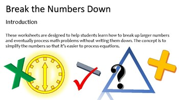 Break the Numbers Down - 3 Digit Subtraction