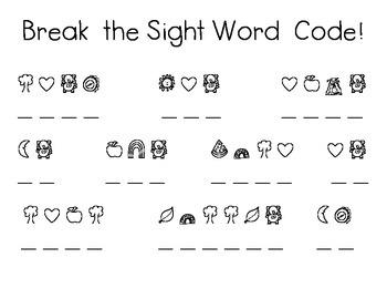 Break the Sight Word Code