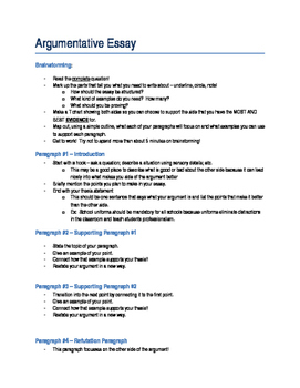 Breakdown for Writing a Timed Argument Essay