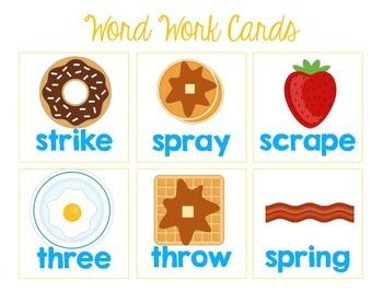 Breakfast Blends {Three Letter Blends} Word Work