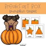 Breakfast Box: Pumpkin {Shapes}