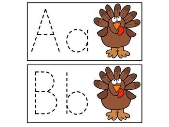 Breakfast Box: Turkeys {Letter Tracing}