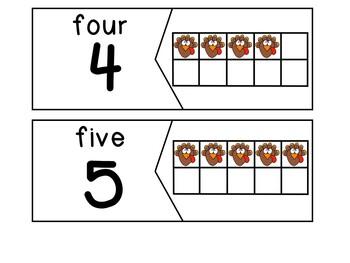 Breakfast Box: Turkeys {Ten Frame Puzzles}