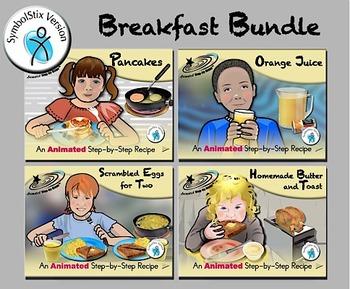 Breakfast Bundle - Animated Step-by-Steps® -  SymbolStix