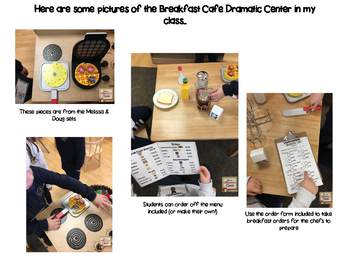 Breakfast Cafe Dramatic Play Center