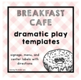 Breakfast Cafe Dramatic Play Templates