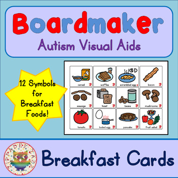 Breakfast Cards - Boardmaker Visual Aids for Autism