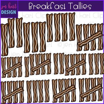 Breakfast Clip Art - Breakfast Bacon Tally Marks {jen hart Clip Art}