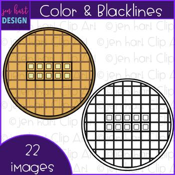 Breakfast Clip Art - Breakfast Waffle Ten Frames {jen hart Clip Art}