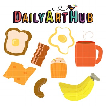Breakfast Clip Art - Great for Art Class Projects!