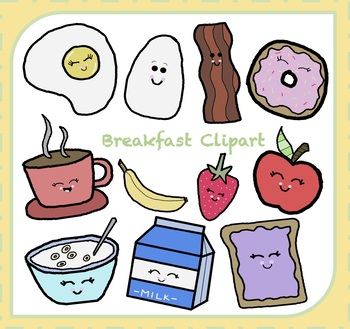 Breakfast Clipart {Food Clipart}