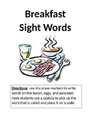 Breakfast Customizatable Sight Word Game