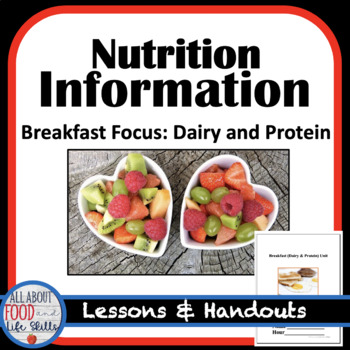 Breakfast (Dairy and Protein) Unit Lessons