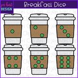 Breakfast Dice Clip Art: Coffee Dice 1-6 {jen hart Clip Art}