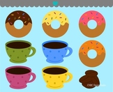 Donuts coffee clipart commercial use