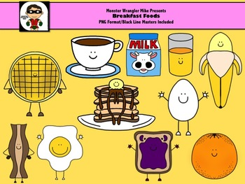 Breakfast Food Clip Art Collection