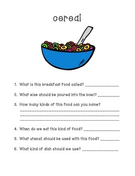 Breakfast Food Fun - WH Questions