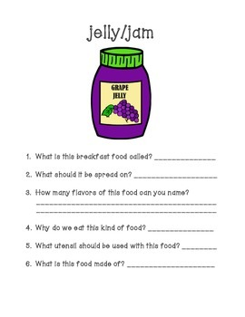 Breakfast Food Fun - WH Questions