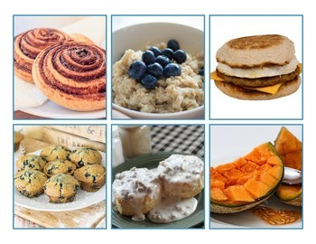 Breakfast Food Match Game