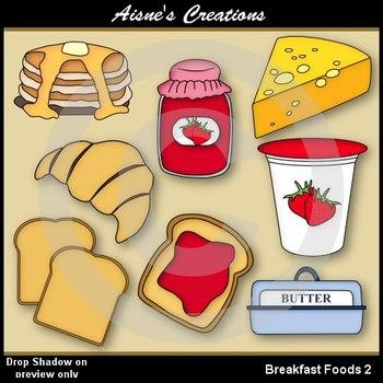 Breakfast Foods 2 Clipart