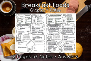 Breakfast Foods (Chapter 9) Notes Plus Answers for Intro to Culinary