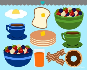 Breakfast food clipart commercial use