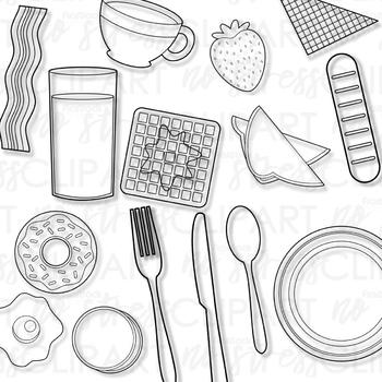 Breakfast Foods Clip Art (Digital Use Ok!)