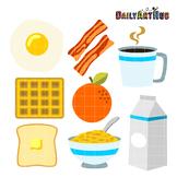 Breakfast Foods Clip Art - Great for Art Class Projects!