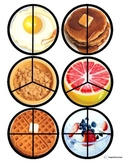 """Breakfast"" Fraction Circles for Autism"