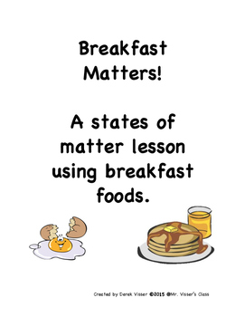 Breakfast Matters! States of Matter lesson packet