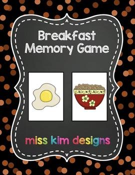 Breakfast Memory Game