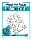 Breakfast Object Matching - Print, Answer & Color Workshee