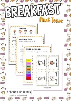 Breakfast (Past Tense) Worksheet & Activity