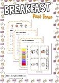 Breakfast (Past Tense) Worksheet & Activity