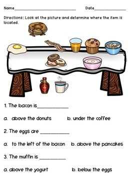 Breakfast Adapted Preposition Book