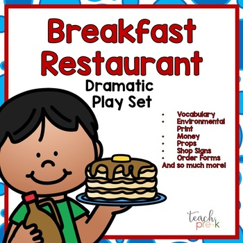 Breakfast Restaurant Dramatic Play:  Signs, Props, & MORE!
