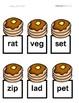 Breakfast Sensory Stakes: CVC Words