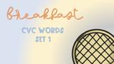 Breakfast Sensory Stakes: CVC Words Set 1