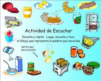 Breakfast Spanish SMART Board Lesson