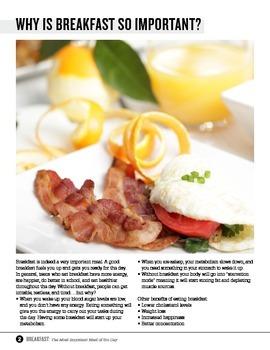 Breakfast Unit for Food Studies