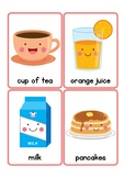 Breakfast Vocabulary Flash Cards
