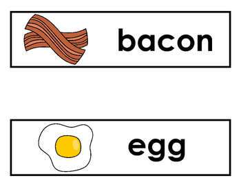 Breakfast Vocabulary Word Cards