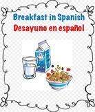 Breakfast Vocabulary in Spanish