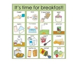 Breakfast and Lunch Choice Board Picture Exchange