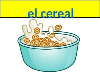 Breakfast and Lunch Vocabulary Realidades 1 Chapter 3A
