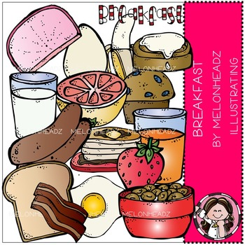 Melonheadz: Breakfast clip art - COMBO PACK